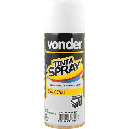 VONDER - Tinta em spray branca, fosca, com 200 ml