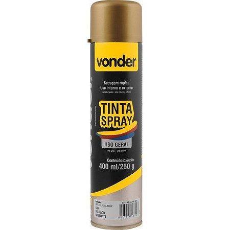 VONDER - Tinta em spray dourada, com 400 ml