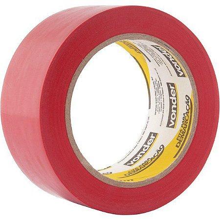 VONDER - Fita adesiva para demarcação 48 mm x 30 m vermelha