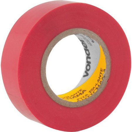 VONDER - Fita isolante, 19 mm x 10 m, vermelha