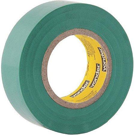 VONDER - Fita isolante, 19 mm x 10 m, verde
