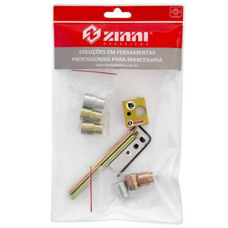 ZINNI - Kit 06 Cavilha 15mm (Guia + Buchas + Haste 100 + Stopper)