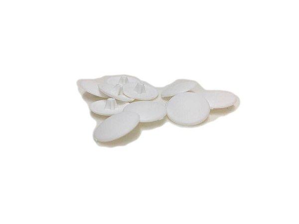 BIGFER - Tampa Ø12 para Parafuso em Polímero = 010 und - Cabeça Chata (Branco) 10.04.023.005