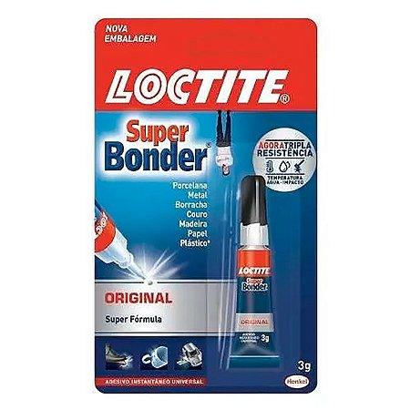 Henkel - Super Bonder Original 3,0gr - Loctite Cola instantânea