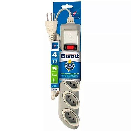 Legrand - Daneva - Filtro de Linha Bivolt Circuit Breaker CZ Cabo PP Plano 3x0,75mm² 2P+T 10A/250V~ DN1642
