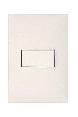 Legrand - PIAL Plus+ - Conjunto 1 Interruptor Paralelo 10A 4X2 Branca 611111BC