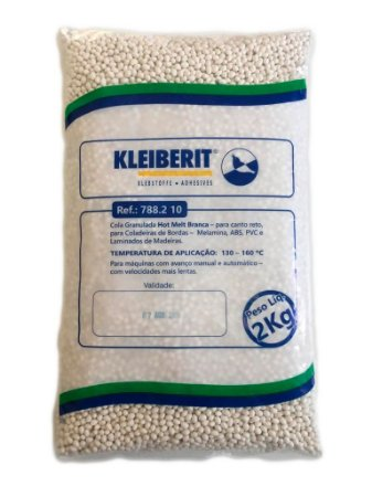 Kleiberit - Cola Granulada Hot Melt Branca 788.2 10 - 2kg - p/ Coladeiras de Bordos - ABS, Melamina, PVC e Laminados