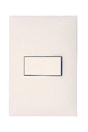 Legrand - PIAL Plus+ - Conunto 1 Interruptor Simples 10A 4X2 Branca 611110BC