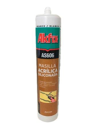 Akfix - AS606 Selador Silicone Base Aguá , pode-se Pintar (310ml-550g) Branco (AS 606/BR-310)