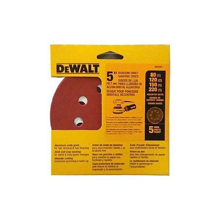 "Dewalt - Discos Lixa Sortido 5"" Dw4307-X Kit c/ 5 peças"