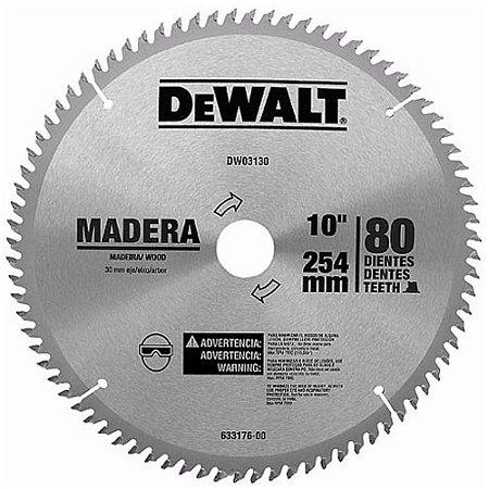 """Dewalt - Lamina Disco de Serra Esquadria 10"""" 254mm - 80 Dentes p/ Madeira"""