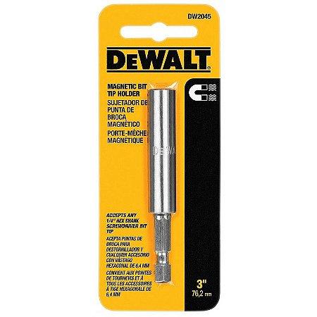 "Dewalt - Ponteira Magnética p/ Bits - Extensão 1/4 - 3"" ( 76,2 mm )  DW2045-G"