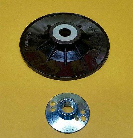 Dewalt - Suporte Disco de Lixa P/ Lixadeira 4.5 + Flange M14 Fibra Rígido - DABP4RRM14