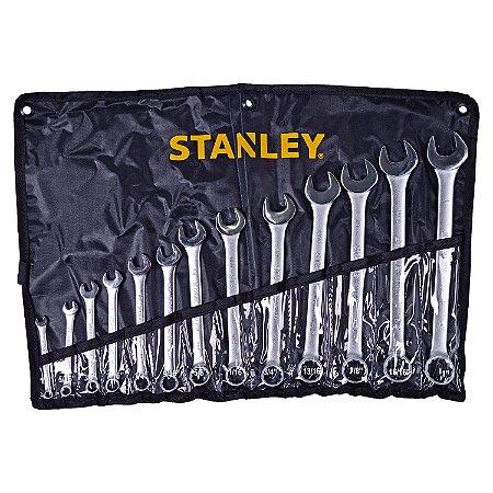 """Stanley - Jogo de Chaves Combinadas (1/4-1"""") 13 Peças - STMT80938-840"""