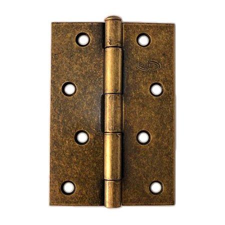 Gubler - Dobradiça Americana de Ferro Ouro Velho Pino Simples - 99 x 66mm
