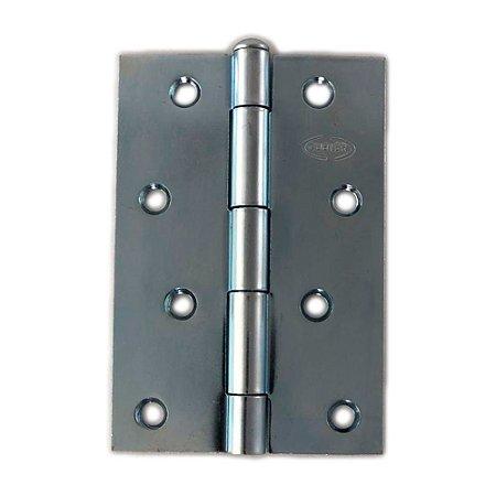 Gubler - Dobradiça Americana de Ferro Zincado Pino Simples - Espessura 1,20 - 76 x 48mm