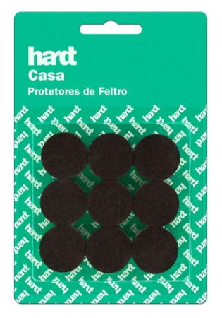 Hardt - Protetores de Feltro Redondo D25 3mm 18 und R0002MR