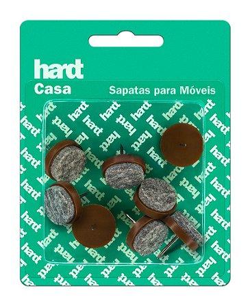 Hardt - Sapatas c/ prego p/ móveis Plástica c/ Feltro D20 08 und R0060MR