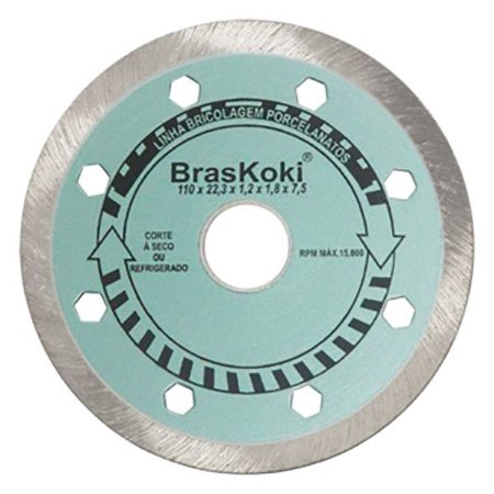 BrasKoki - Disco diamantado 110mm l.bric. Porcelanatos