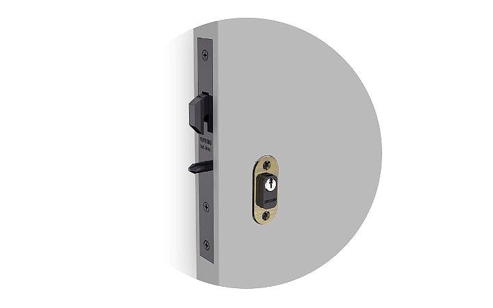 Soprano - Fechadura - Linha Porta de Correr - Externa - Antique Brass ROS37 (03001055515)