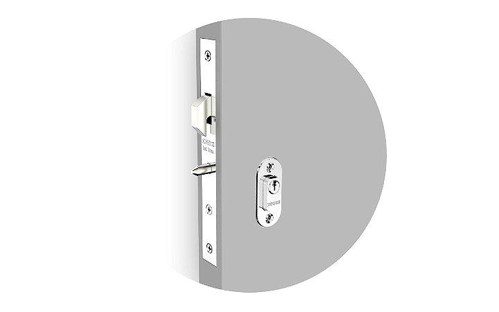 Soprano - Fechadura - Linha Porta de Correr - Externa - Cromado ROS37 - 03001055501