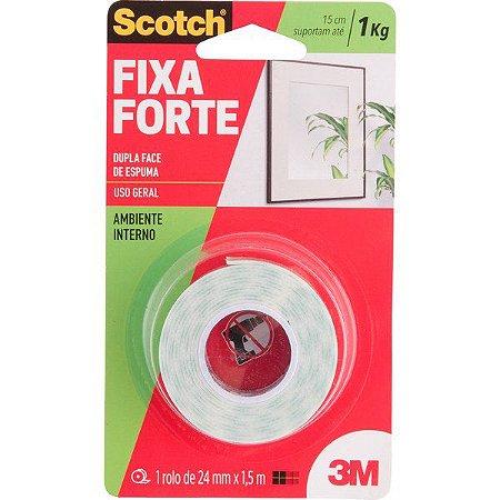3M - Fita Dupla Face - Fixa Forte - 24mm x 1,5m - 10.46.113.024