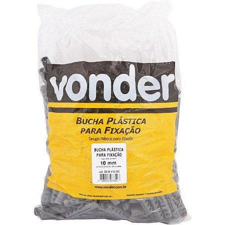 VONDER - Bucha Plástica de Fixação - 10mm - com Anel - VA-10 Pacote 205 pçs
