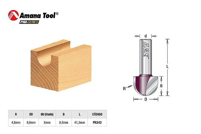 Amana Tool - AGE™ Pro-Series - FR242 - Meia Cana - Raio 4,8mm