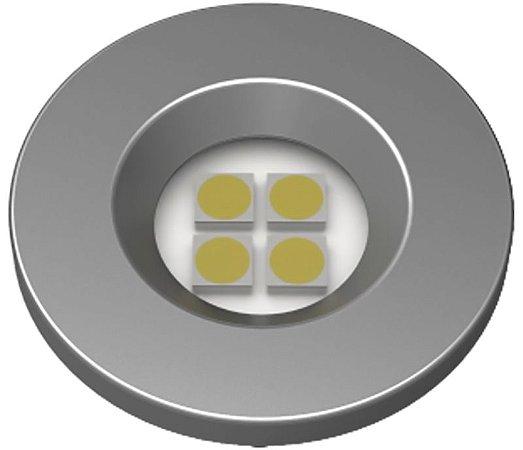 Artetílica Nuze - Luminária Pontual Circular D35 4 Super Led 5000K E521.G - 110/220V TITANUIM