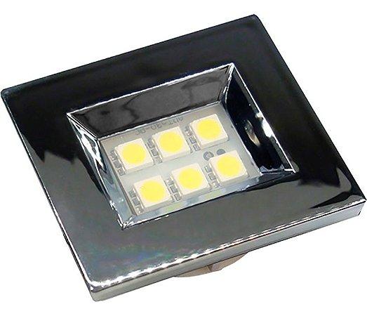 Artetílica Nuze - Luminária Pontual Retangular 35 - 6 Super Led 3000K 110/220V CROMADA - E310.C