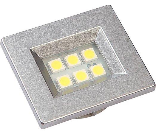 Artetílica Nuze - Luminária Pontual Retangular 35 - 6 Super Led 6000K 110/220V ALUMINIO - E510.A
