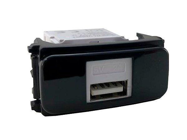 WEG - Composé - Módulo Tomada Carregador Keystone USB - Preto