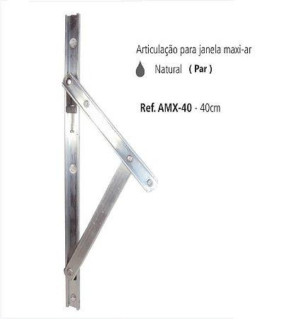 Perfil - Maxi-Ar - AMX-40 - Articulação p/ Janela 40 cm Cor Natural