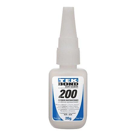 Tekbond - Adesivo Instantâneo 200 - Bico Antientupimento - 20g