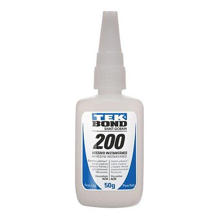 Tekbond - Adesivo Instantâneo 200 - Bico Antientupimento - 50g