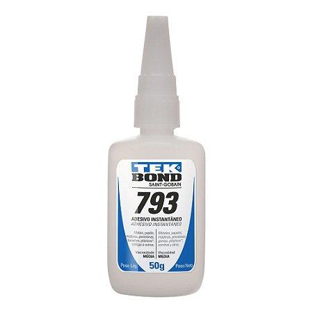 Tekbond - Adesivo Instantâneo 793 - Bico Antientupimento - 50g
