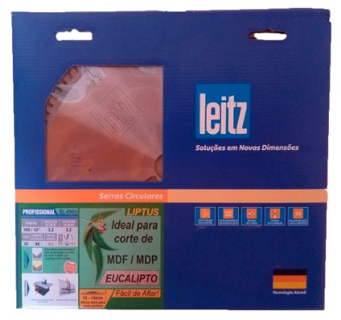 Leitz - Disco de Serra Circular - WZ - SL4965 - HW 300 x 3,2/2,2 x F30 - 96z, Liptus