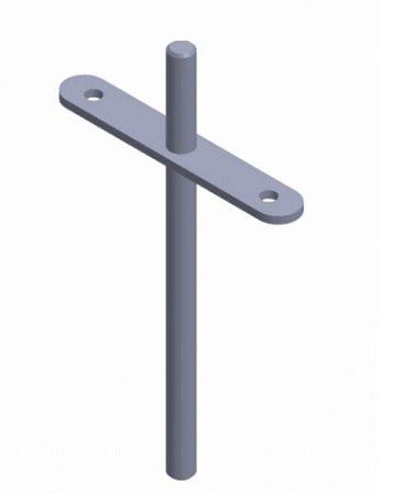BIGFER - Suporte Invisível p/ Prateleira (R) - 160mm - Zinco Branco
