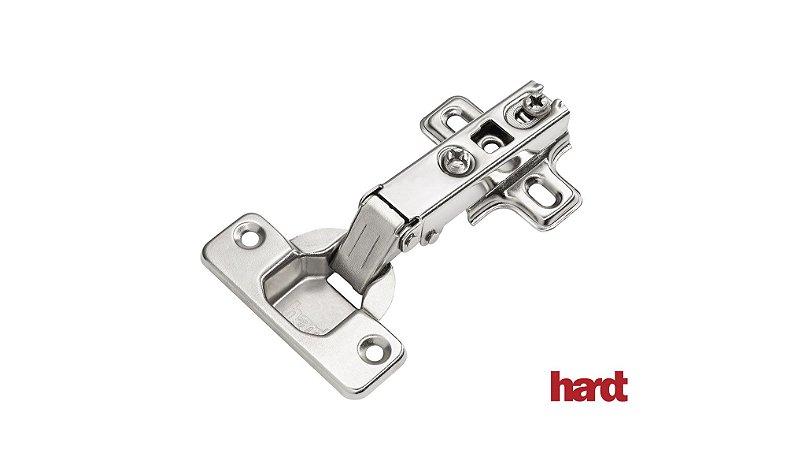 Hardt - Dobradiça de Caneco 35mm - S95/110 Push Open Slide On - Alta (2 Furos) Para utilização com Fecho Toque