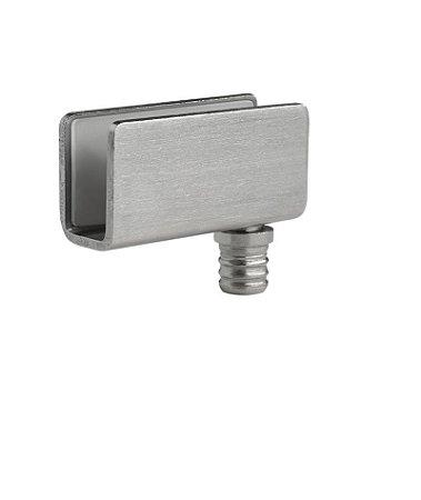 Hardt - Dobradiça p/ Porta de Vidro - 41 x 20mm - Aço Escovado - F0058
