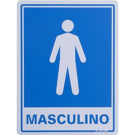 SINALIZE - Placa de Sinalização - Procedimento Sanitário Masculino - 15 x 20cm