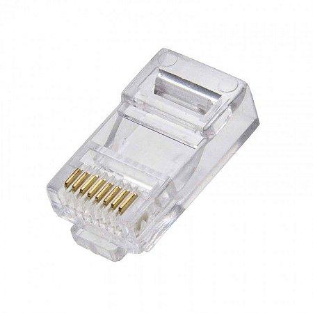 InterNeed - Conector Modular Plug RJ-45 - p/ Cabo LAN / Rede (ftz)