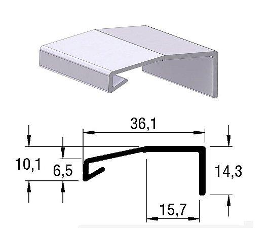 Alternativa - Perfil Puxador LINZ 15mm Inox Escovado 6,0 m
