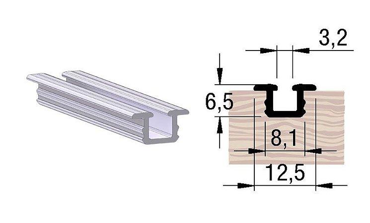 Alternativa - Trilho Inferior 2053 Inox Escovado 6,0 m