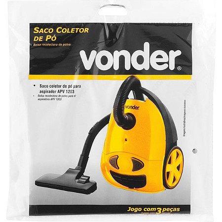 VONDER - Saco Coletor de Pó p/ Aspirador APV1203 - 3 Peças