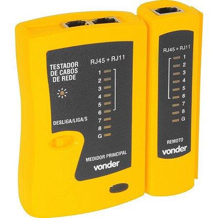 VONDER - Testador de Cabos de Rede RJ11/RJ12/RJ45
