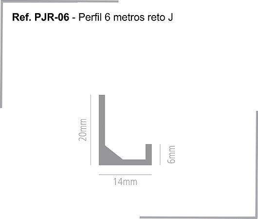 PERFIL - Perfil de Alumínio 6m - PJR - Trilho Reto J - 20 x 14 x 6mm