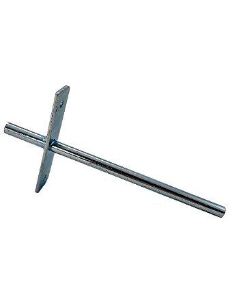 BIGFER - Suporte Invisível p/ Prateleira (R) - 190mm - Zinco Branco