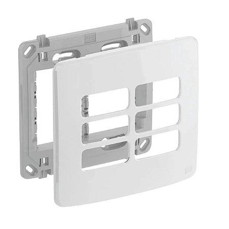 WEG - Composé - Placa e Suporte 4x4 - 6 Posições - Branco