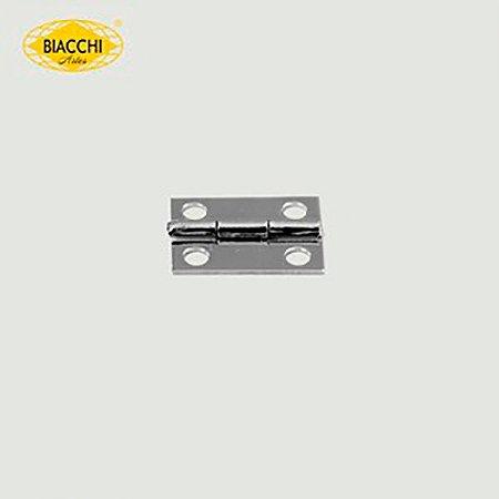 Biacchi - Dobradiça p/ Artesanato - 15 x 11mm Furo 2,40 - Aço Niquelado - DB5155-15ANQ